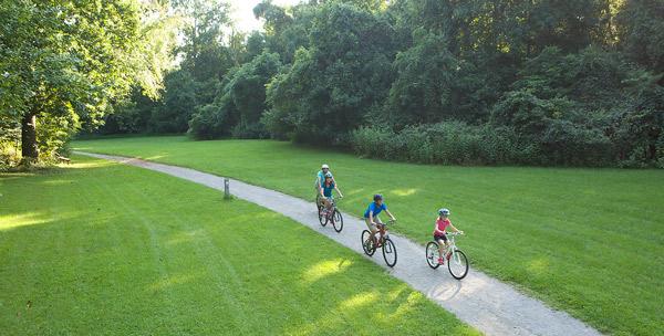 Biking on the greenway