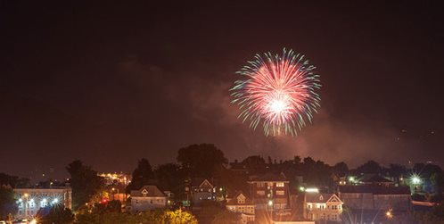 Roanoke fireworks Salem Vinton Botetourt Rocky Mount